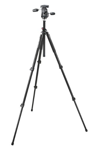 Manfrotto fotostatiefkit (055 XPROB statief, 808 RC 4 statiefkop) zwart