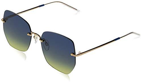 TOMMY HILFIGER TH 1667/S gafas de sol, Oro Azul, 57 para Mujer
