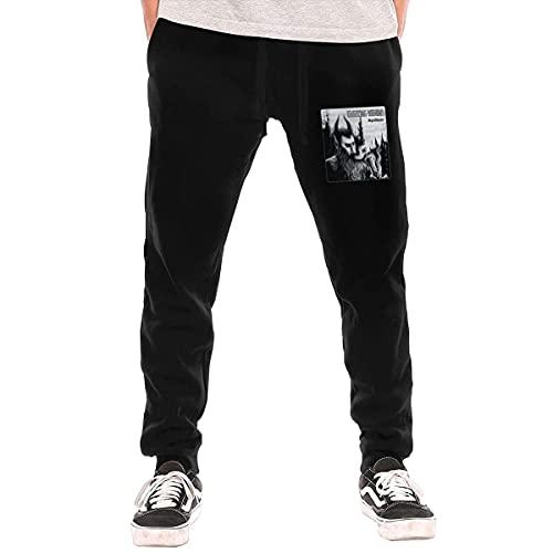 Electric Wizard Dopethrone Pantalon de jogging décontracté avec cordon de serrage et poches pour homme, Noir , 41-44.5