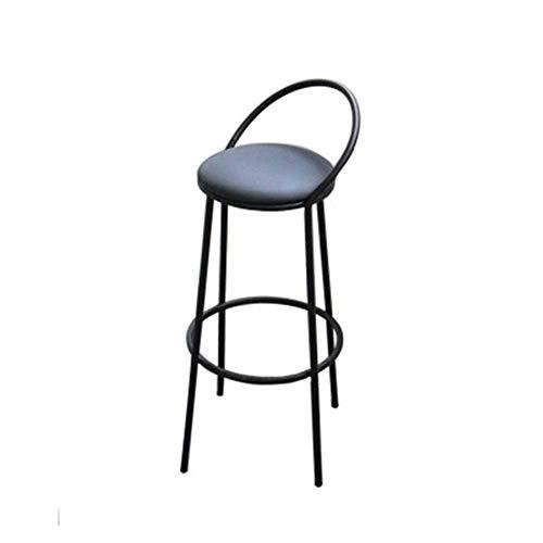Inicio Equipamiento Taburetes de bar Taburetes de bar de lujo Luz de escritorio Silla alta Taburete de mostrador de cocina Silla de comedor Taburete de barra de desayuno (Color: Negro Tamaño: 47x47