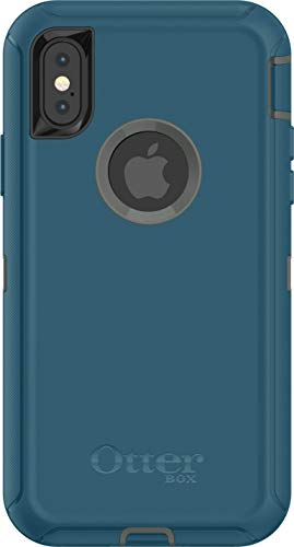iPhone Xs Case - OtterBox Defender Series Case for iPhone X & iPhone Xs (Case Only - Holster Not Included) - Non-Retail Packaging - Agave Green/Corsair