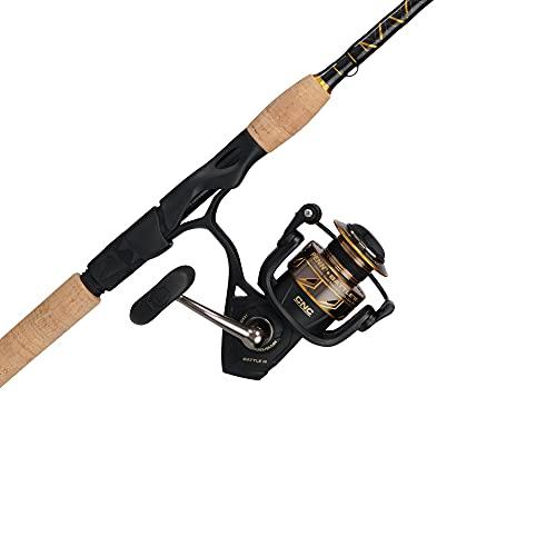 Penn Battle III Spinning Reel and Fishing Rod Combo , Black/Gold , 2500 Reel Size - 7' - Medium Light - 1pc