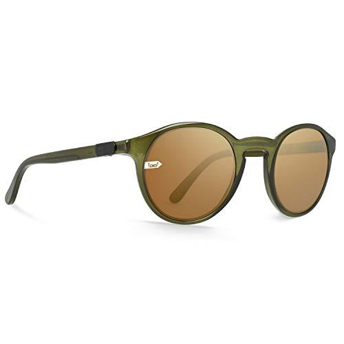 Gloryfy Gi8 Panto Gafas de sol, Oliva/oro, M Unisex adulto