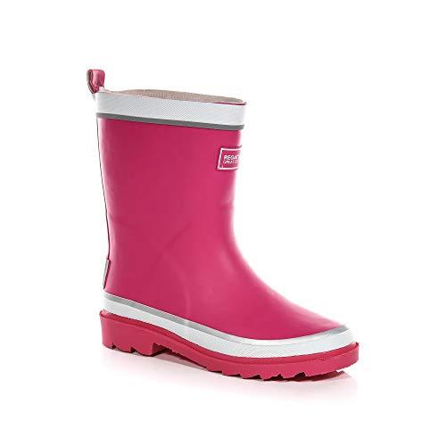 Regatta Mädchen Foxfire Jnr Kurzschaft Gummistiefel, Pink (Jem/White 673), 38 EU