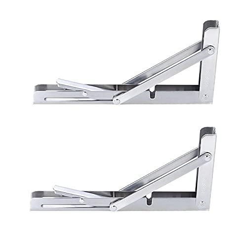 2 uds, Soportes de estante plegables, consola de soporte triangular montada en...