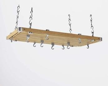 NewestEdition Over item handling ☆ Concept Housewares Rectangular Ceiling Pot Rack Popular popular