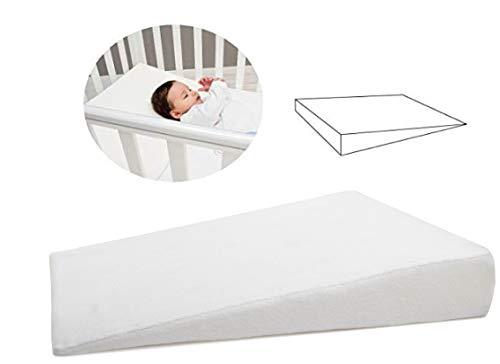 Almohada Bebe - Cuña Antireflujo Bebe (OEKO-TEX® y Made in EU) - Cojín para Bebés- Funda de almohada de algodón extraíble y lavable - Idea de regalo perfecta para la primera infancia