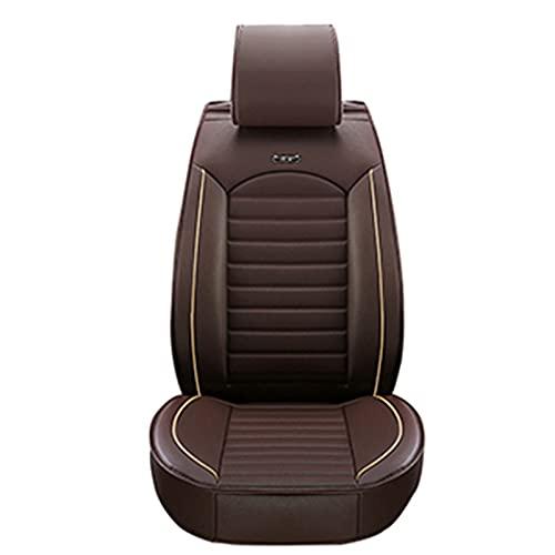 Fundas de asiento de coche delanteras de cuero PU de lujo de calidad universal Cojines acolchados-D