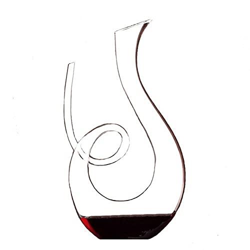 MQQ Set Separador De Vino, Decantador De Vino De 1000 Ml / 1500 Ml, con Una Base Amplia, Carafe De Cristal Elegante Espiral, Accesorios De Vino, Adecuado para Banquetes, Negocios, Bodas