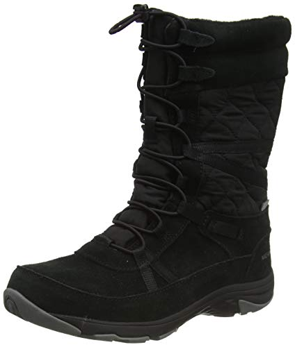 Merrell Approach Tall Leather Waterproof, Botas Altas para Mujer, Negro Black, 39...