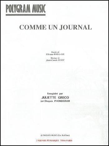 COMME UN JOURNAL