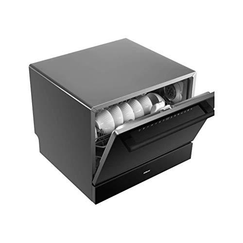 SMLZV Lavavajillas, Mesa Lavavajillas automático encimera Lavavajillas portátil Mini Lavavajillas, spray giratorio for platos de cocina cuencos Gafas de 360 °, 5 programas de lavado, fácil de limpia