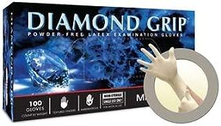 Microflex MF-300-L-Box Diamond Grip Exam Gloves, PF Latex, Textured Fingers, Large (Pack of 100)