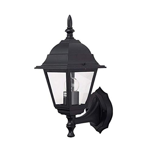 Modern Outside Wall Illumination Traditional Style Black Outdoor Wall Light Acrylic Plastic Wall Sconce Fitting for Office Kitchen Hallway Corridor Utility Garden Garage Shed Bathroom Porch
