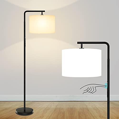 Lámpara de Pie Moderna Control Táctil, 7 Modos de Color, 3 Temperaturas de Color y Brillo Continuo,Bombilla LED Regulable E27 de 15W,Lámpara de Poste Alto para Sala de Estar Dormitorio Oficina GLUROO