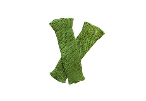 tevirP 100% Merino Wolle Baby Stulpen Beinwärmer Socken Gestrickt Tragriemen S Green