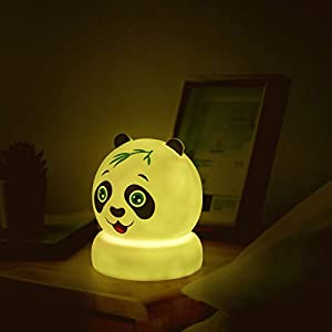 Cute Panda Night Lights for Kids Soft Lights for Toddler Baby Newborn Rechargeable Touch Animal LED Lamps for Nursery Breastfeeding Perfect Girls Boys Easter Gifts Cool Children Bedrooms Decor
