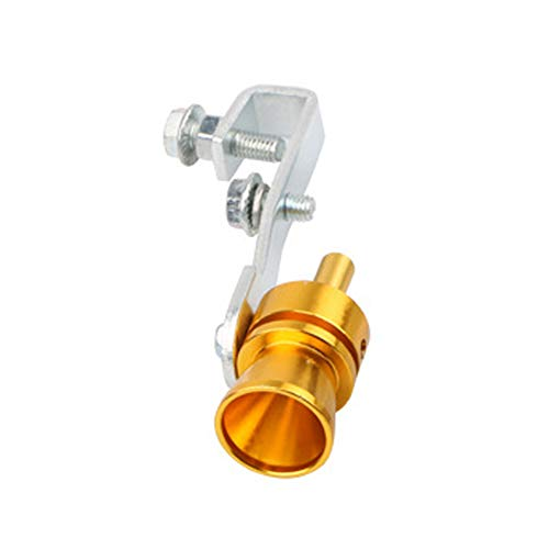 SSNsvj Automobile Universal Modified Exhaust Pipe Sounder,Turbo Sound Exhaust Automatic Blow Valve Simulator, Car Tail Roar Whistle Blow Valve BOV Simulator Silver L