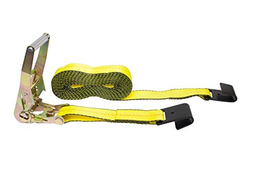 "Mytee Products 2"" x 40' Ratchet Strap with Flat Hook - Yellow"