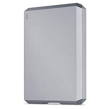 LaCie Mobile Drive 4TB External Hard Drive Portable HDD - Space Gray USB-C USB 3.0 for Mac and PC Desktop  STHG4000402   Renewed