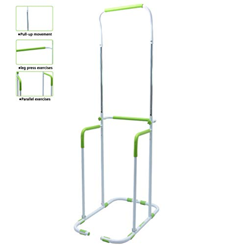 HYJBGGH Power Tower Power Tower, Dip Station Parallele con Regolazione in Altezza A 5 Marce, Dip Station Rack Multifunzionale per Interni Adatte per Adulti E Bambini (Color : Green)