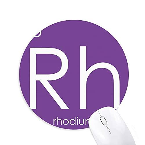 la chimie des éléments tableau des métaux de transition, rhodium rh Tapis de bureau confortable pour tapis de souris