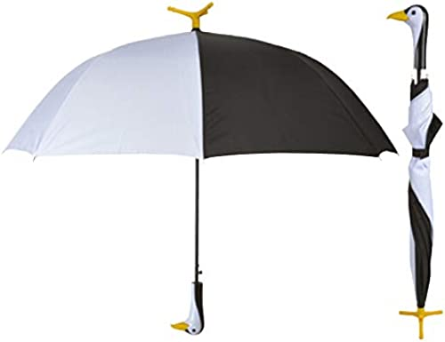 """2021 Whimsical, Fashionable and Fabulous wholesale 30.7"""" Standing Penguin Handle Stick Umbrella By online SkyMall sale"""