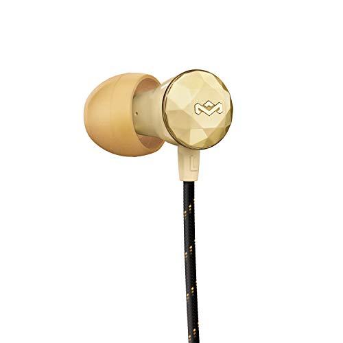 House of Marley Fones de ouvido Nesta com cancelamento de ruído e microfone, dourado, grande
