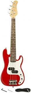 ELECTRIC BASS GUITAR - RED - Small Scale 36
