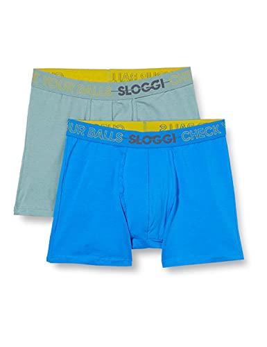 Sloggi Go Movember Short C2P Sous-vêtement, BLUE - LIGHT COMBINATION, 7 Homme