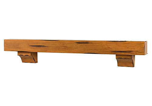 Breckenridge 72 Inch Fireplace Mantel Shelf - Chestnut Rustic Finish