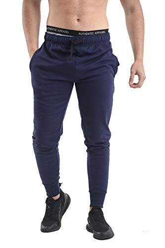 NY Deluxe Edition Heren Slim Past Jogging Bodem Skinny Joggers Sweat Broek Terry Fleece Geribbelde Enkel Taille Band Casual Gym Workout Combat Track Jog Broek Sweat Broek Maat S-XXL