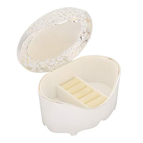 Joyero hueco organizador de almacenamiento de joyas caja de almacenamiento de forma ovalada estilo europeo pendientes pulseras para niñas y mujeres collar (elipse hueco)
