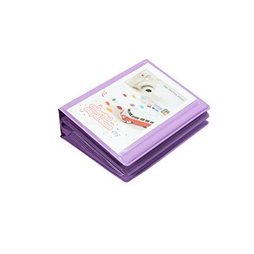 Bernice Winifred Album 3 Pulgadas 6 Colores Colorido Lindo Mini 28 + 1 Bolsillos de Almacenamiento Caso Álbum de Fotos para Polaroid Fujifilm Instax película para la Gran Regalo Caliente, púrpura