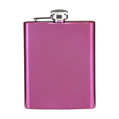 sin4sey Flachmann Trendfarben 200 ml Edelstahl (pink)