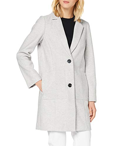TOM TAILOR Denim Damen Bonded Woll Blazer Jacke, 10367-Light Silver Grey Mé, L