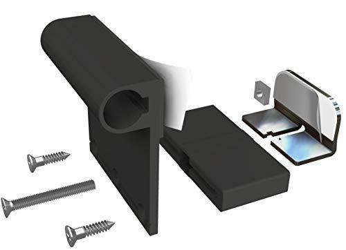 Windhager Insektenschutz Klemmadapter für Rahmentüren, Zubehör Montage Fliegengitter ohne bohren, anthrazit, 03875