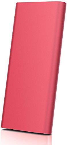 Disco duro externo portátil USB 3.0 de 1 TB / 2 TB, almacenamiento en disco duro para PC, portátil, Mac, Chromebook, Smart TV rosso 1 tb