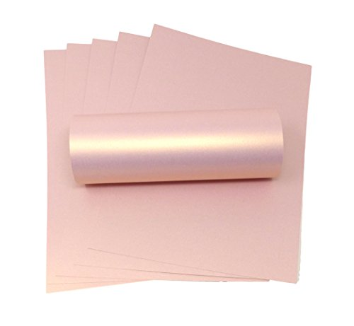 Carta decorativa perlacea brillante, formato A4, color rosa, 300 g/mq rosa