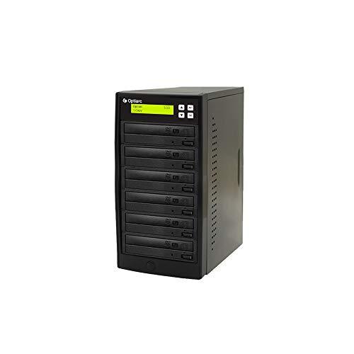 Optiarc 1 to 5 24X Burner M-Disc Support CD DVD Duplicator - Standalone Copier Duplication Tower (Model: OPT-S5T-DVD-BK)