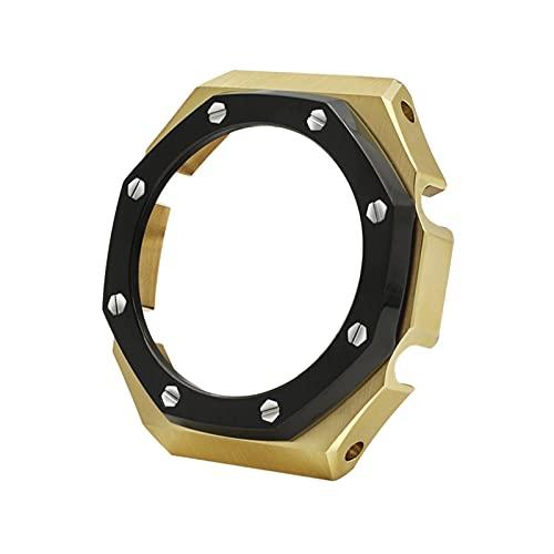 LAAGFC MODIFICACIÓN DE MODIFICACIÓN del MODIFICACIÓN GA-2100 Reloj de Acero Inoxidable Caja de la Caja de la Caja de Metal Modificación de la Caja Ap