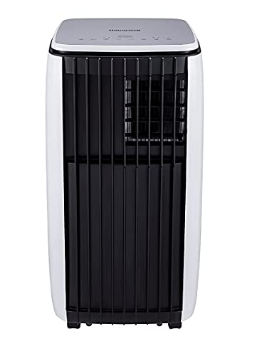 Honeywell Portable 3 in 1 Air Conditioner with Remote Control, 3 Fan Speeds, LCD Display, Anti-Bacterial Filter, 1.5m Hose Included, Energy Rating A, White (9000BTU)