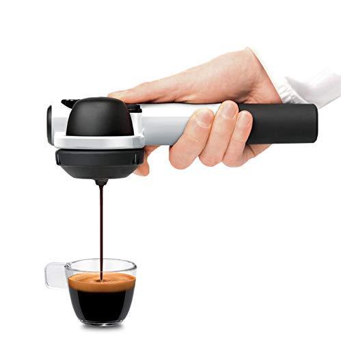 Handpresso 48257 Pump weiß - tragbare, manuelle Espressomaschine für ESE-Pads oder gemahlenen Kaffee