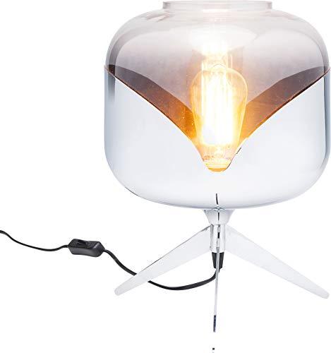 Kare Design Tischleuchte Chrome Goblet Ball, Nachttischlampe, Tischlampe siber, (H/B/T) 35x27x27cm