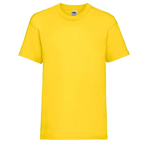 Fruit of the Loom - Kids Value Weight T / Yellow, 128 128,Yellow