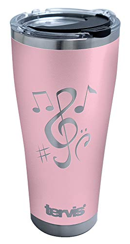 Tervis Music Elements Engraved Insulated Tumbler, 30oz - Stainless Steel, Pink