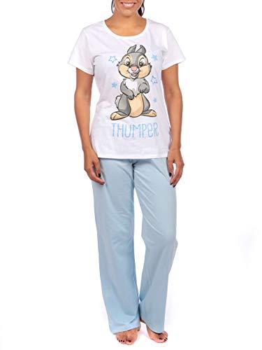 Disney Damen Klopfer Schlafanzug Blau Large
