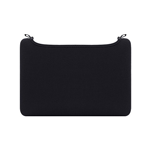 RAINYEAR 12 Inch Neoprene Laptop Sleeve Protective Elastic Open No-Zipper Unclosed Soft Padded Carrying Bag Slim Fit Computer Case Cover Specially Compatible with 12' New MacBook (Black)