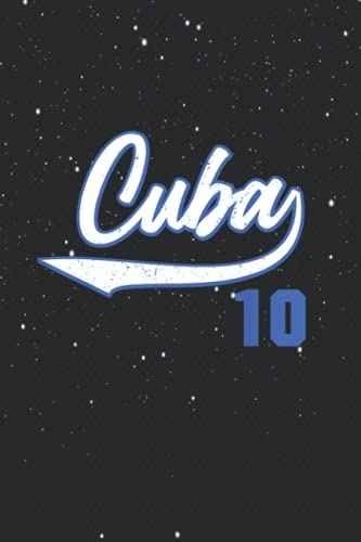 cuban baseball cuba 10 jersey remera camiseta beisbol 114 Pages 6''x9'' in College Ruled Notebook