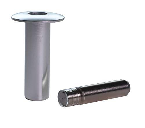 FANTOM Türstopper mit vernickeltem Stift für EIN- und zweiflügelige Türen (gebürstet)
